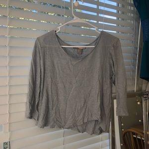 Grey/blue lightweight shirt